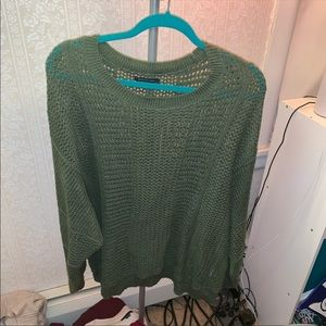 AE olive knit sweater
